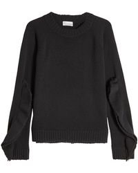 RED Valentino - Virgin Wool Pullover With Layered Sleeves - Lyst