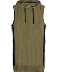 Public School - Sleeveless Cotton Top With Drawstring Hood - Lyst