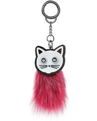 Karl Lagerfeld - Keychain With Fox Fur - Lyst