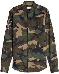 Valentino - Embellished Cotton Shirt - Lyst