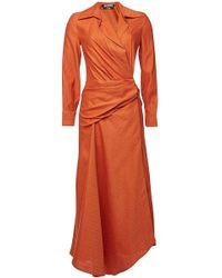 0eadbf18f3 Jacquemus - La Robe Sabah Asymmetric Dress With Linen And Cotton - Lyst