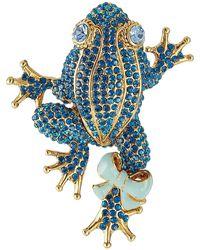 Marc Jacobs - Crystal Embellished Frog Brooch - Lyst