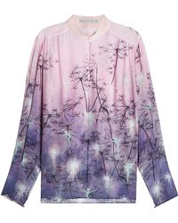 Mary Katrantzou - Printed Silk Blouse - Lyst