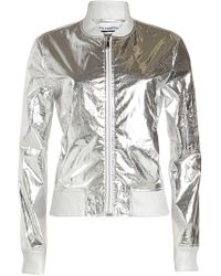 Paco Rabanne - Metallic Jacket With Cotton - Lyst