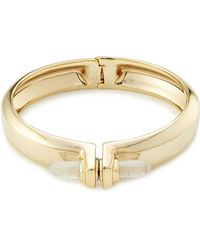 Alexis Bittar - Hinged Bangle With Crystal - Lyst