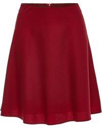 HUGO - Rieka Virgin Wool Skirt - Lyst