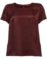 HUGO - Cleria Satin Top - Lyst