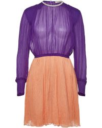 Nina Ricci - Silk Dress With Crystal Embellishment - Lyst