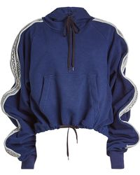 Y. Project - Ruffled Cotton Hoodie - Lyst