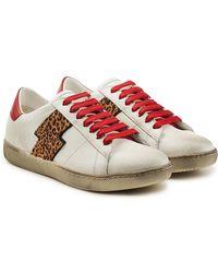 Miharayasuhiro Leopard Print Sneakers in Gray for Men - Lyst ce016cd72