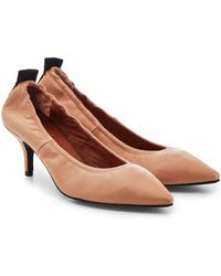 JOSEPH - Leather Kitten Heel Court Shoes - Lyst