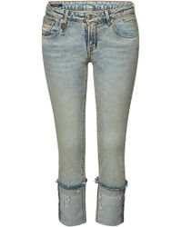 R13 - Kate Skinny Jeans With Distressed Detail - Lyst