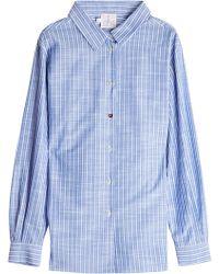Stella Jean - Pinstriped Cotton Shirt - Lyst