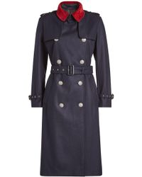 The Kooples - Wool Trench Coat - Lyst