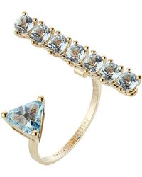 Delfina Delettrez - 9kt Yellow Gold Ring With Topaz - Lyst