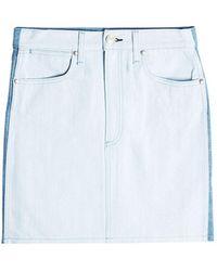 6c5ab7ef4d Rag & Bone Moss Skirt in Blue - Lyst