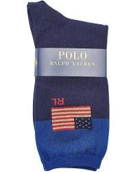 Polo Ralph Lauren - Printed Socks With Cotton - Lyst