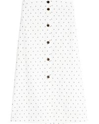 Jil Sander Navy - Embroidered Cotton Skirt - Lyst