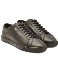Saint Laurent - Andy Leather Low-top Sneakers - Lyst