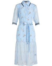 Markus Lupfer - Diver Micki Printed Silk Dress - Lyst
