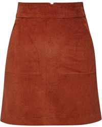 A.P.C. - Shanya Corduroy Mini Skirt - Lyst