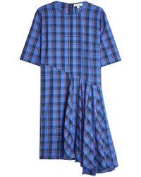 Public School - Kariertes Kleid aus Baumwolle mit Volant - Lyst