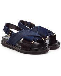 Marni - Fussbett Pony Hair Sandals - Lyst