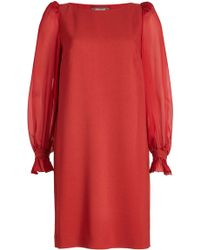 Roberto Cavalli - Dress With Sheer Sleeves - Lyst
