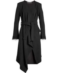 Roland Mouret - Asymmetric Wool Coat - Lyst