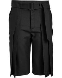 Saint Laurent - Virgin Wool Shorts - Lyst