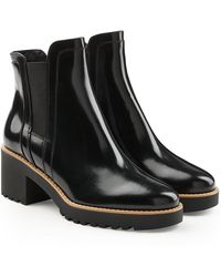 Hogan | Patent Leather Ankle Boots | Lyst