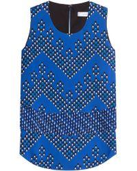 Diane von Furstenberg - Silk Jersey Printed Shell - Lyst