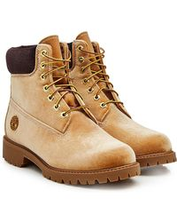 Off-White c/o Virgil Abloh - X Timberland Velvet Ankle Boots - Lyst