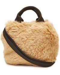 Muuñ - Mini Ice Bear Handbag With Faux Fur - Lyst
