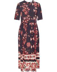 RED Valentino - Printed Silk Dress - Lyst