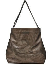 Brunello Cucinelli - Metallic Leather Tote - Lyst