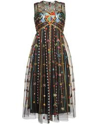 450aa8ccc56 Lyst - Marc Jacobs Embellished Tulle Cocktail Minidress in Metallic ...