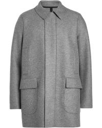 Harris Wharf London - Virgin Wool Coat - Lyst