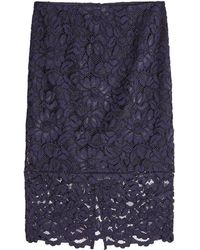 Polo Ralph Lauren - Lace Pencil Skirt With Cotton - Lyst