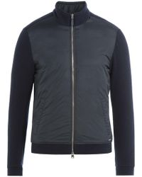 Woolrich | Zipped Jacket With Wool And Cotton | Lyst