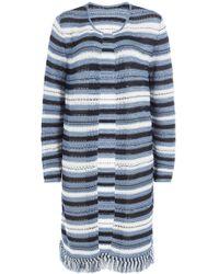 Lucien Pellat Finet - Striped Knit Cardigan - Lyst