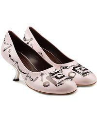 Marni - Printed Leather Pumps - Lyst