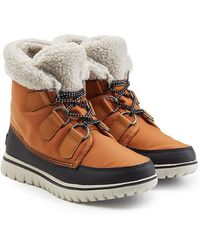 Sorel - Cosy Carnival Suede And Rubber Short Boots - Lyst