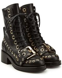 N°21 - Embellished Leather Ankle Boots - Lyst