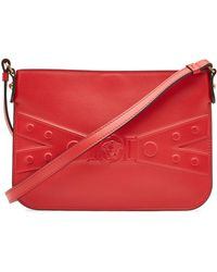 Lyst - Versace Medusa Coin Tartan Belt Bag in Red b6ca3673ddeb7