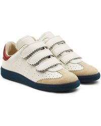Isabel Marant - Beth Leather Sneakers With Suede - Lyst