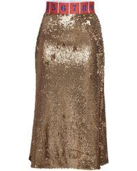 Stella Jean - Sequin Pencil Skirt - Lyst