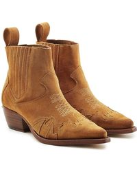 Zadig & Voltaire - Erin Suede Ankle Boots - Lyst