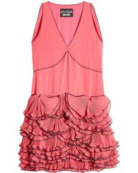 Boutique Moschino - Ruffled Sleeveless Dress - Lyst
