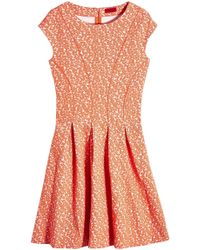 HUGO - Dawinja Printed Dress With Cotton - Lyst